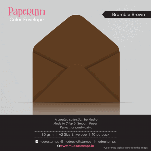 Bramble Brown Color Envelope for A2 size card - Mudra Paperum