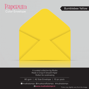 Bumblebee Yellow Color Envelope for A2 size card - Mudra Paperum
