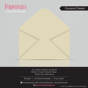Coconut Creme Color Envelope for A2 size card - Mudra Paperum
