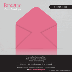 French Rose Color Envelope for A2 size card - Mudra Paperum
