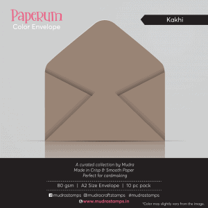 Kakhi Color Envelope for A2 size card - Mudra Paperum