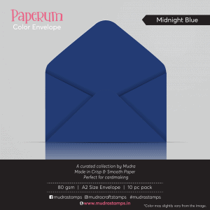 Midnight Blue Color Envelope for A2 size card - Mudra Paperum