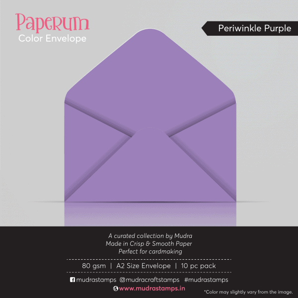 Periwinkle Purple Color Envelope for A2 size card - Mudra Paperum