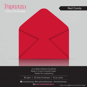 Red Candy Color Envelope for A2 size card - Mudra Paperum
