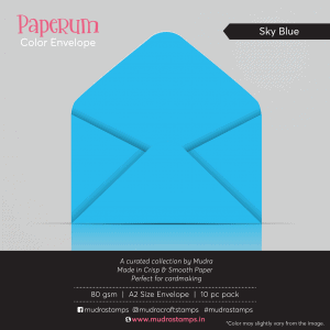 Sky Blue Color Envelope for A2 size card - Mudra Paperum