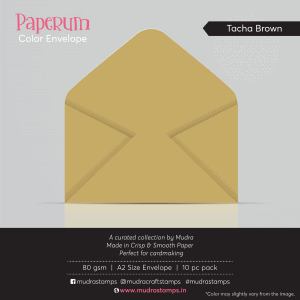 Teach Brown Color Envelope for A2 size card - Mudra Paperum