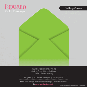 Yelling Green Color Envelope for A2 size card - Mudra Paperum