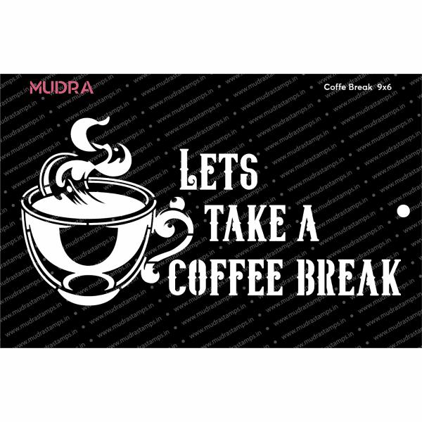Craft Stencils - Coffee Break 9x6 - Mudra