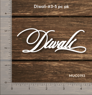 Chipzeb - Diwali #3 - designer chipboard laser cut embellishment by Mudra