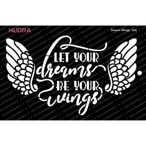Craft Stencils - Dream Wings 9x6 - Mudra
