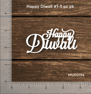 Chipzeb - Happy Diwali #1 - designer chipboard laser cut embellishment by Mudra