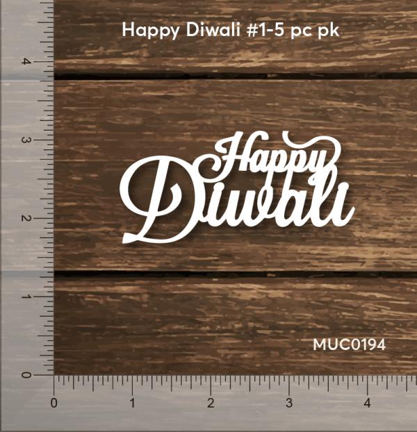 Chipzeb - Happy Diwali #1 - designer chipboard laser cut embellishment by Mudra