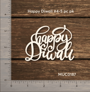 Chipzeb - Happy Diwali #4 - designer chipboard laser cut embellishment by Mudra