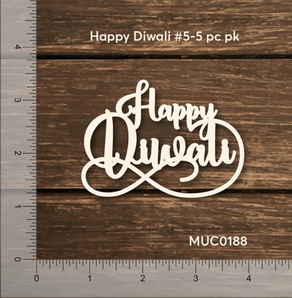 Chipzeb - Happy Diwali #5 - designer chipboard laser cut embellishment by Mudra