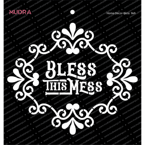 Craft Stencils - Home Decor Bless 9x9 - Mudra