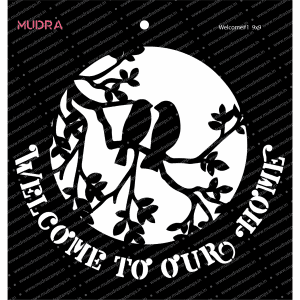 Craft Stencils - Welcome # 1 9x9 - Mudra