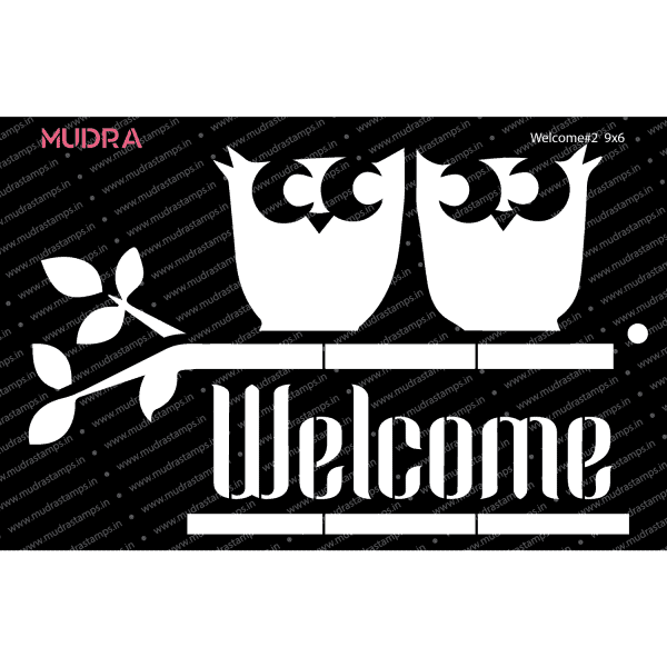 Craft Stencils - Welcome #2 9x6 - Mudra