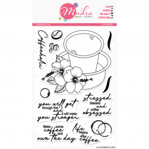 dabarah design photopolymer stamp for crafts, arts and DIY by Mudra
