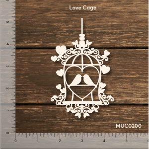 Chipzeb - Love Cage - designer chipboard laser cut embellishment by Mudra