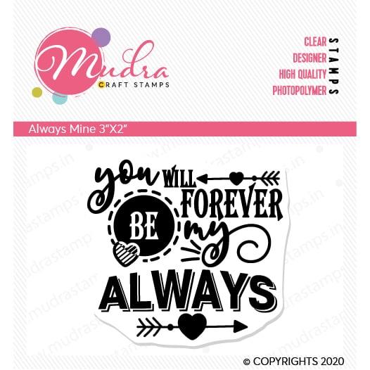 always mine design photopolymer stamp for crafts, arts and DIY by Mudra