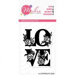 Botanical Love design photopolymer stamp for crafts, arts and DIY by Mudra