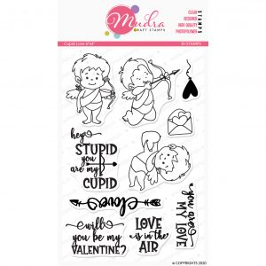 Cupid Love design photopolymer stamp for crafts, arts and DIY by Mudra