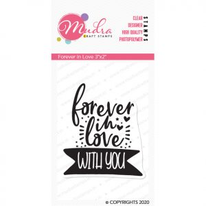 Forever in Love design photopolymer stamp for crafts, arts and DIY by Mudra