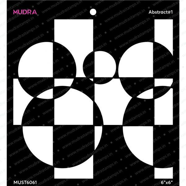 Craft Stencils - Abstract #1 6x6 - Mudra