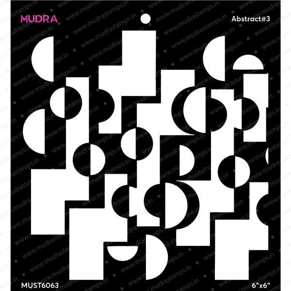 Craft Stencils - Abstract#3 - 6x6 - Mudra