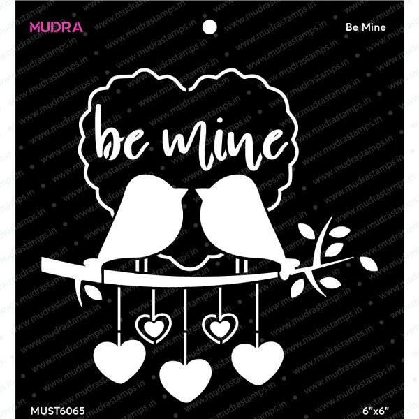 Craft Stencils - Be Mine 6x6 - Mudra