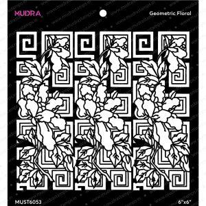 Craft Stencils - Geometric floral 6x6 - Mudra