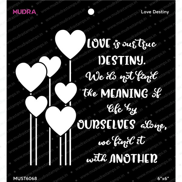 Craft Stencils - Love Destiny 6x6 - Mudra