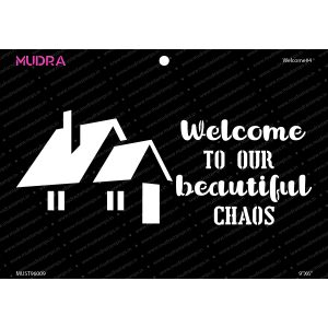 Craft Stencils - Welcome #4 9x6- Mudra