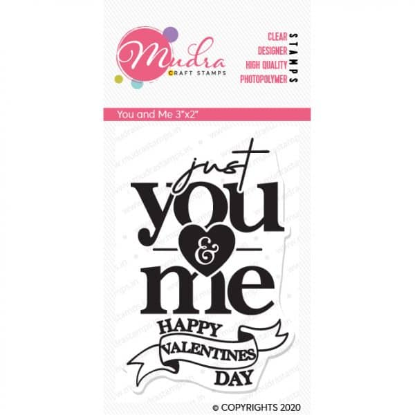 you and me design photopolymer stamp for crafts, arts and DIY by Mudra