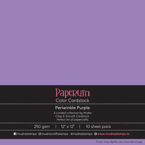Periwinkle Purple Color Cardstock Paper board 250gsm 12x12 - Mudra Paperum