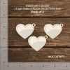 Chipzeb - Heart Mini Shaker - designer chipboard laser cut embellishment by Mudra