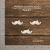 Chipzeb - Moustache Mini Shaker W/hole - designer chipboard laser cut embellishment by Mudra