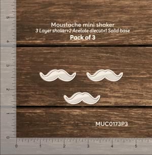 Chipzeb - Moustache Mini Shaker - designer chipboard laser cut embellishment by Mudra