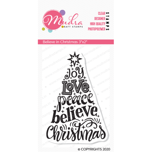 Belive in christmas - clear stamps