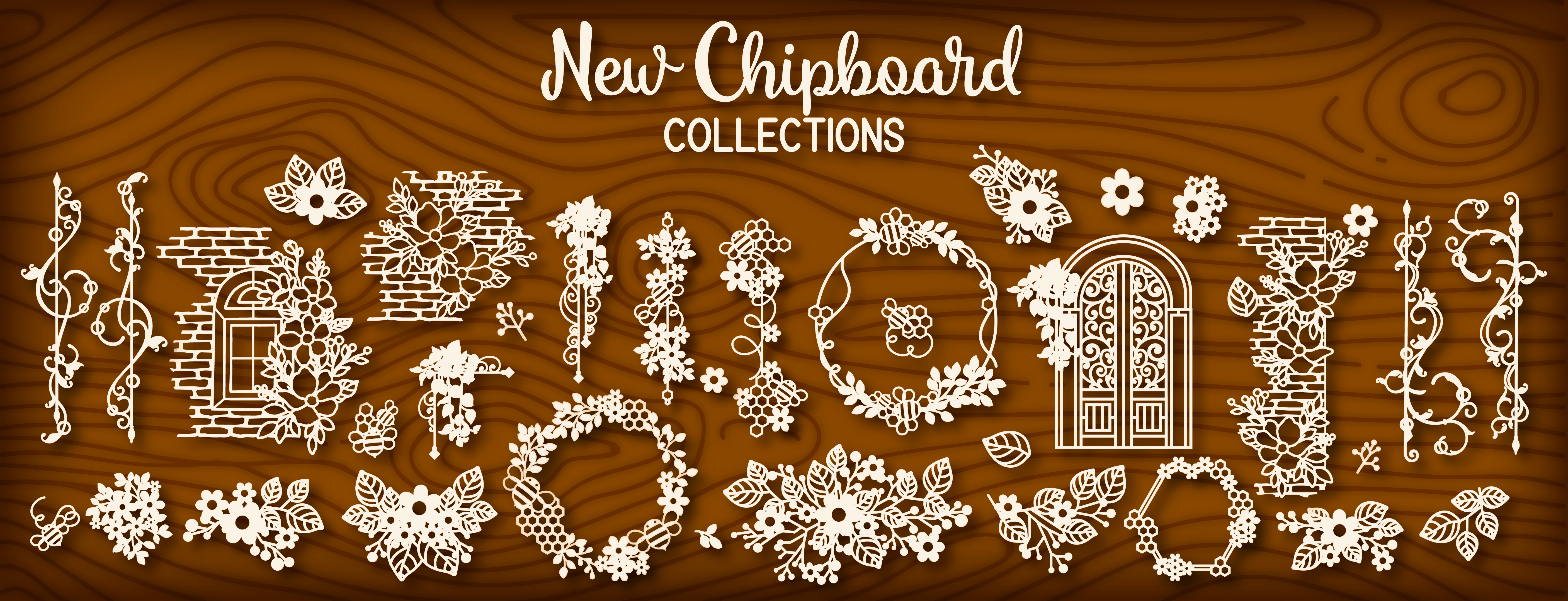 Designer Chipboard Embellishment - Chipzeb - Mudra Crafts Stamps