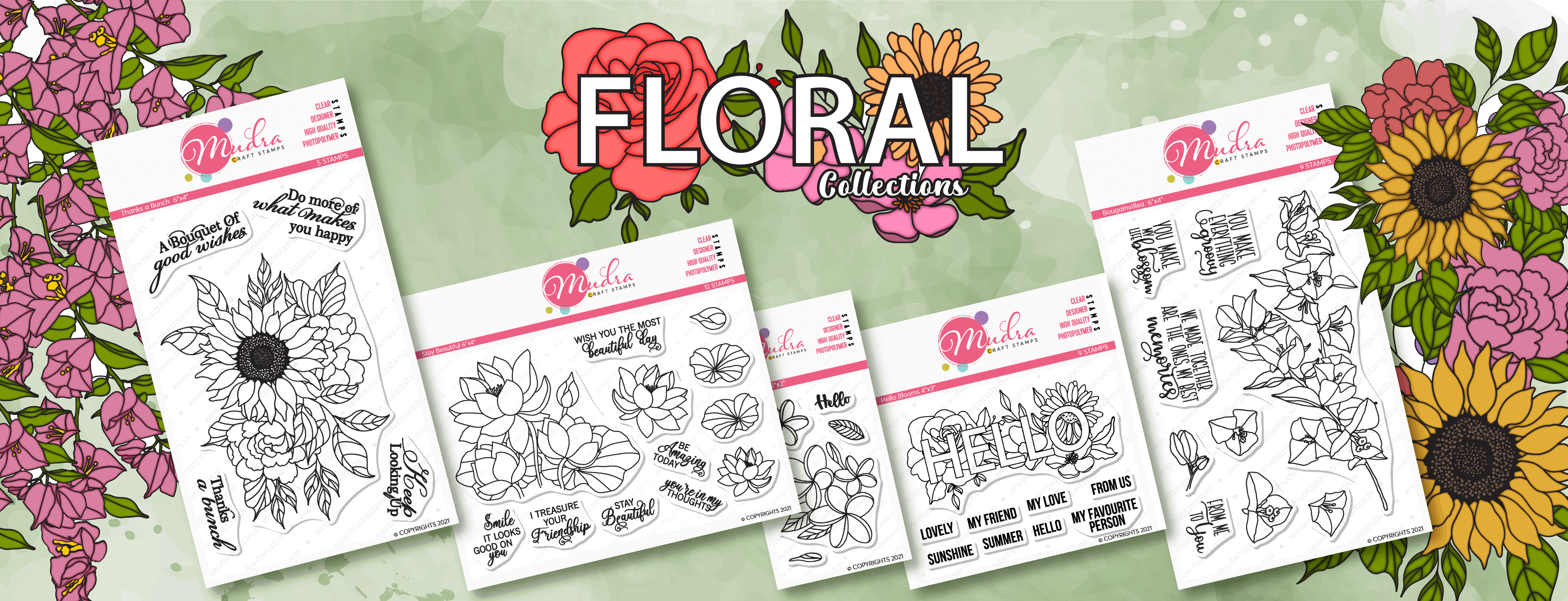 Floral Collection stamp by Mudra Craft Stamps